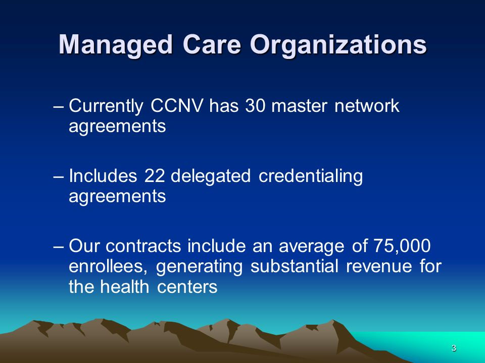 Ccnv 2 Nd Annual Client Conference Managed Care Organizations And