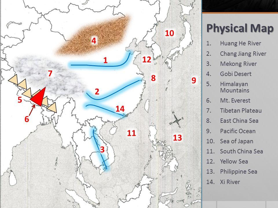 Countries 1ina 2japan 3ngolia 4rth korea 5uth korea 6 physical map 1ang he river 2ang jiang river 3kong river gumiabroncs Choice Image