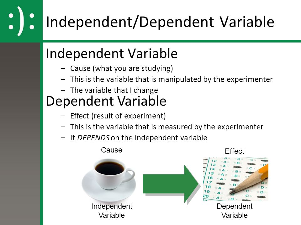 the independent variable essay Sample essay independent and dependent variables (independent and dependent variables are related to one another the dependent variables in the analysis of the data.