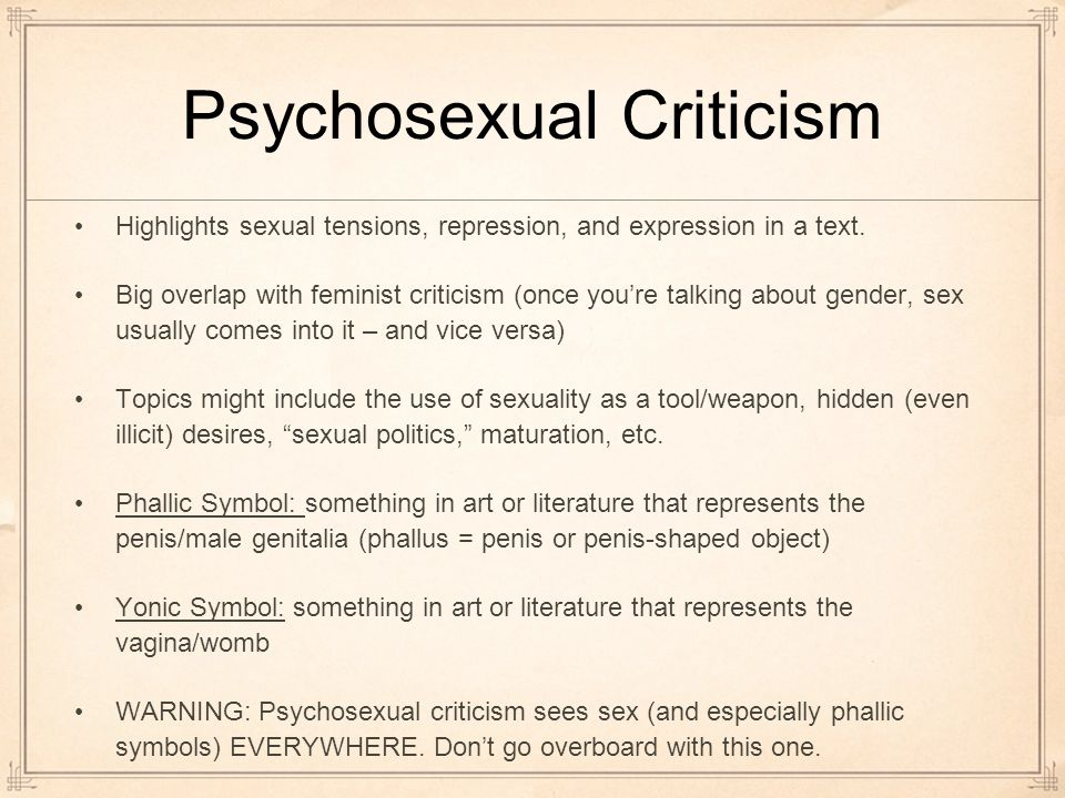 Psychosexual stages criticism