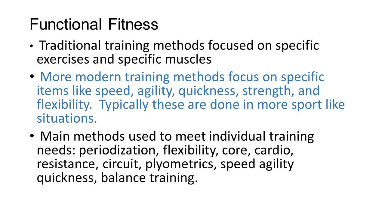 Training Methods High Performance  Functional Fitness