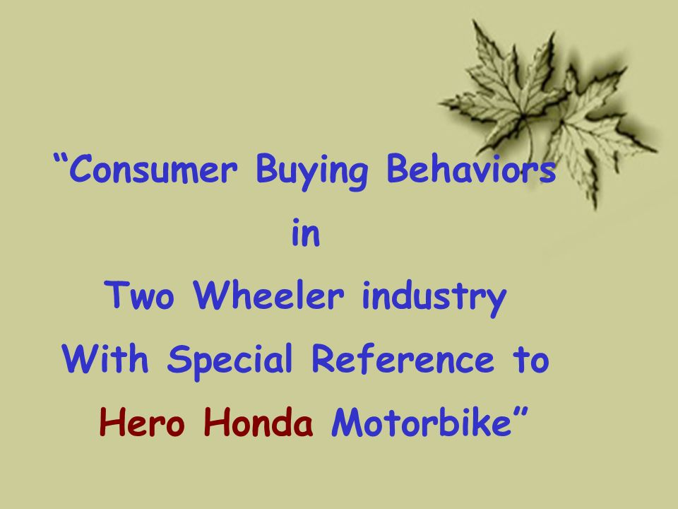 hero honda case study