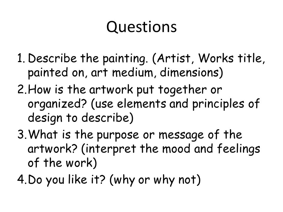 Collage Critiques Questions 1 Describe The Painting