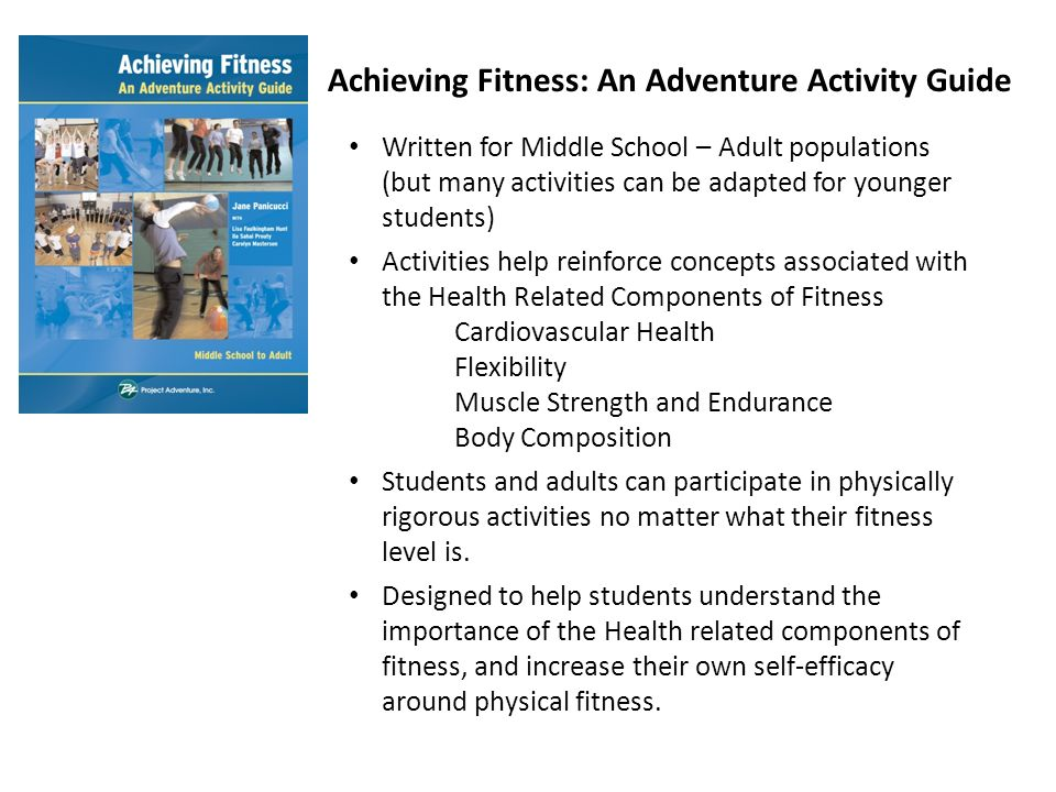 Achieving Fitness An Adventure Activity Guide Written For Middle School Populations But