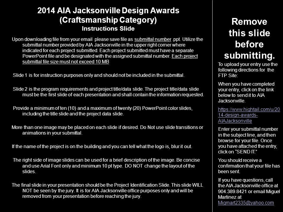 2014 AIA Jacksonville Design Awards (Craftsmanship Category