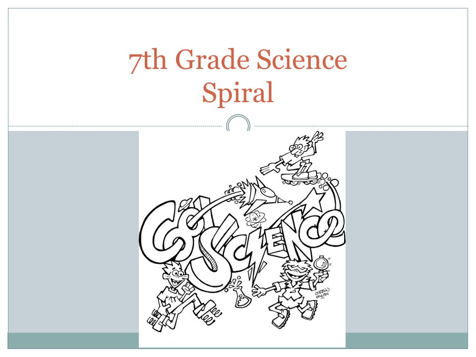 7th Grade Science Spiral. We will create a science spiral this year ...