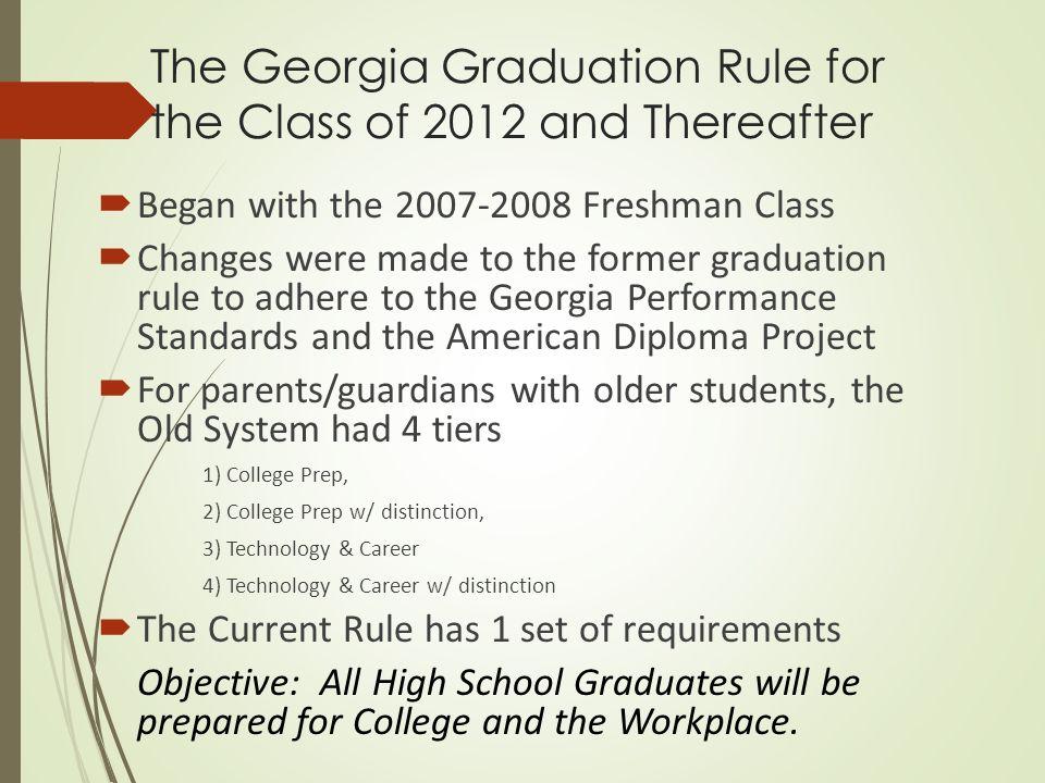 Georgia High School Graduation Requirements 2020.Mission Possible Graduation Beyond Class Of 2020
