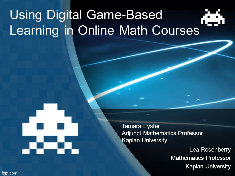 Using Digital Game-Based Learning in Online Math Courses Tamara ...