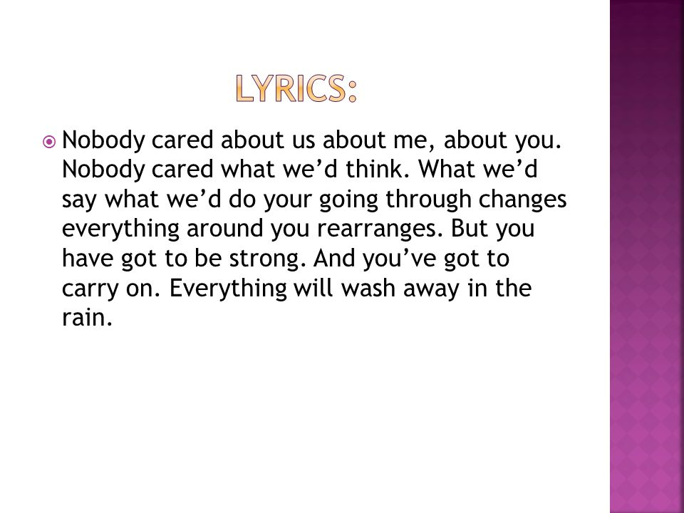 """Lyric come away with me lyrics : By Tori Hare. o """"In the first place no one care enough to come ..."""