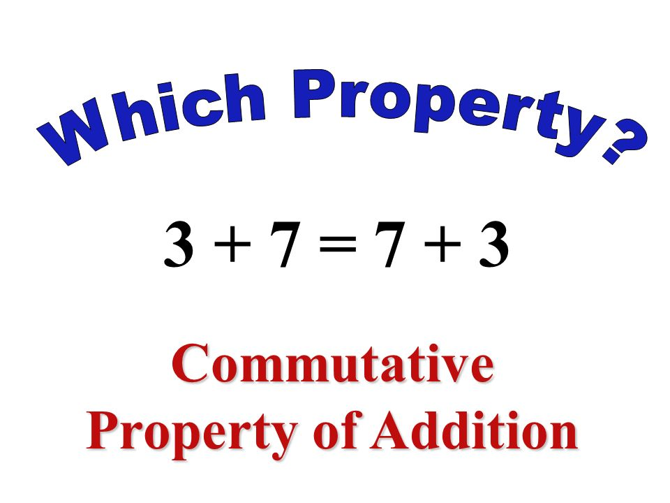 (2 + 1) + 4 = 2 + (1 + 4) Associative Property of Addition