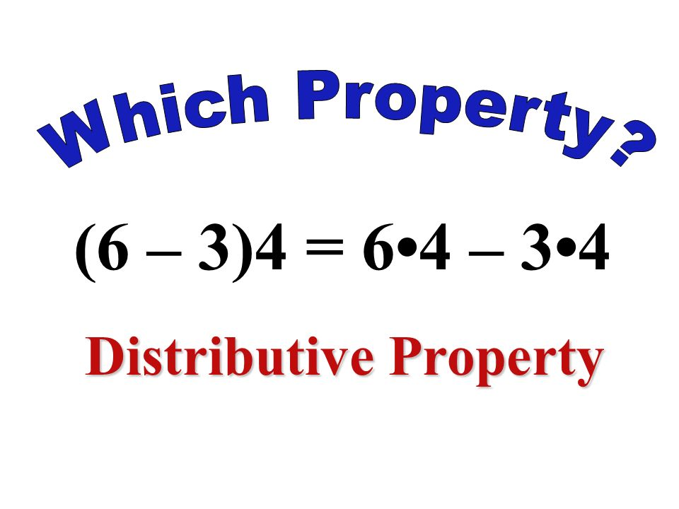 5 1 = 5 Identity Property of Multiplication