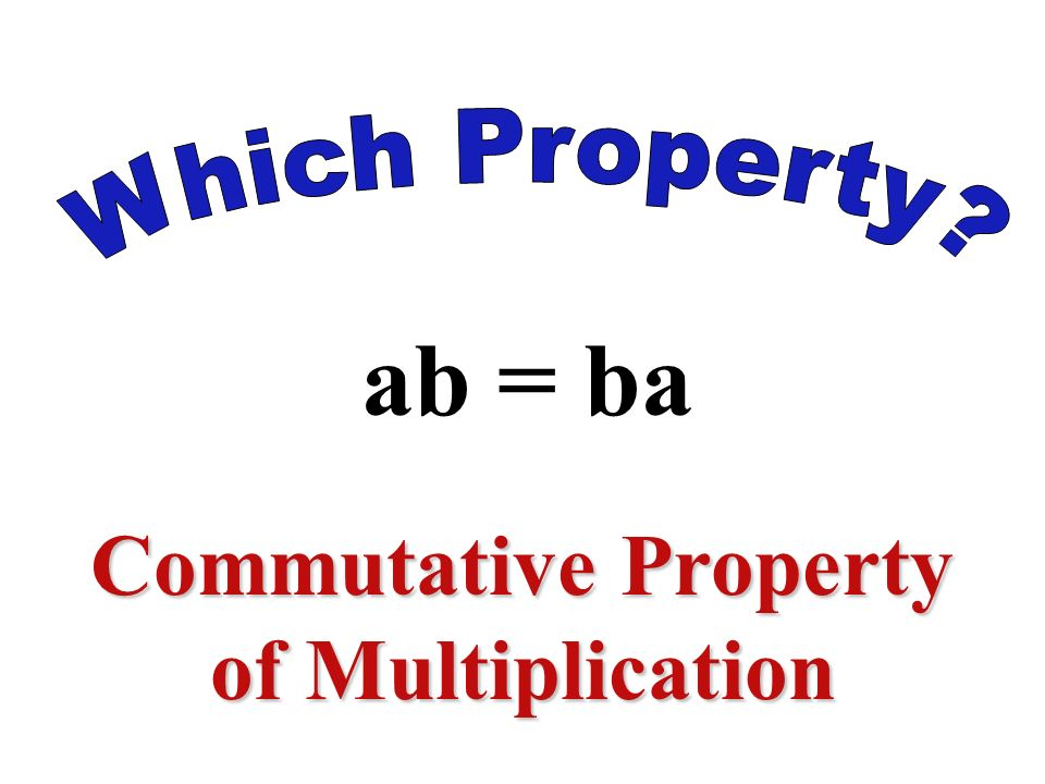2x + 3 = 3 + 2x Commutative Property of Addition