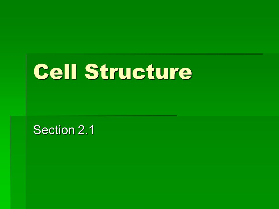 Cell Structure Section 2 1  Living Things  Any living
