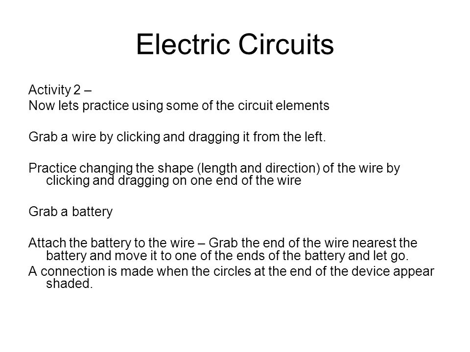 Electric Circuits Online Lab 1.Building circuits 2.Measuring Voltage ...