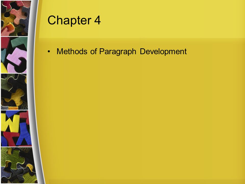 4 methods of paragraph development