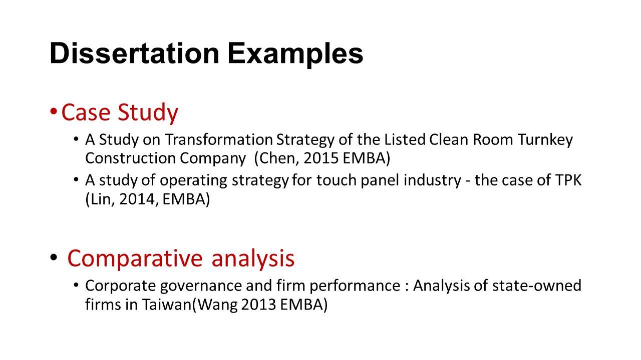 dissertation topics on corporate governance