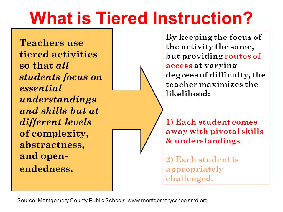 Tiered Instruction A Planning Strategy For Mixed Ability Classrooms