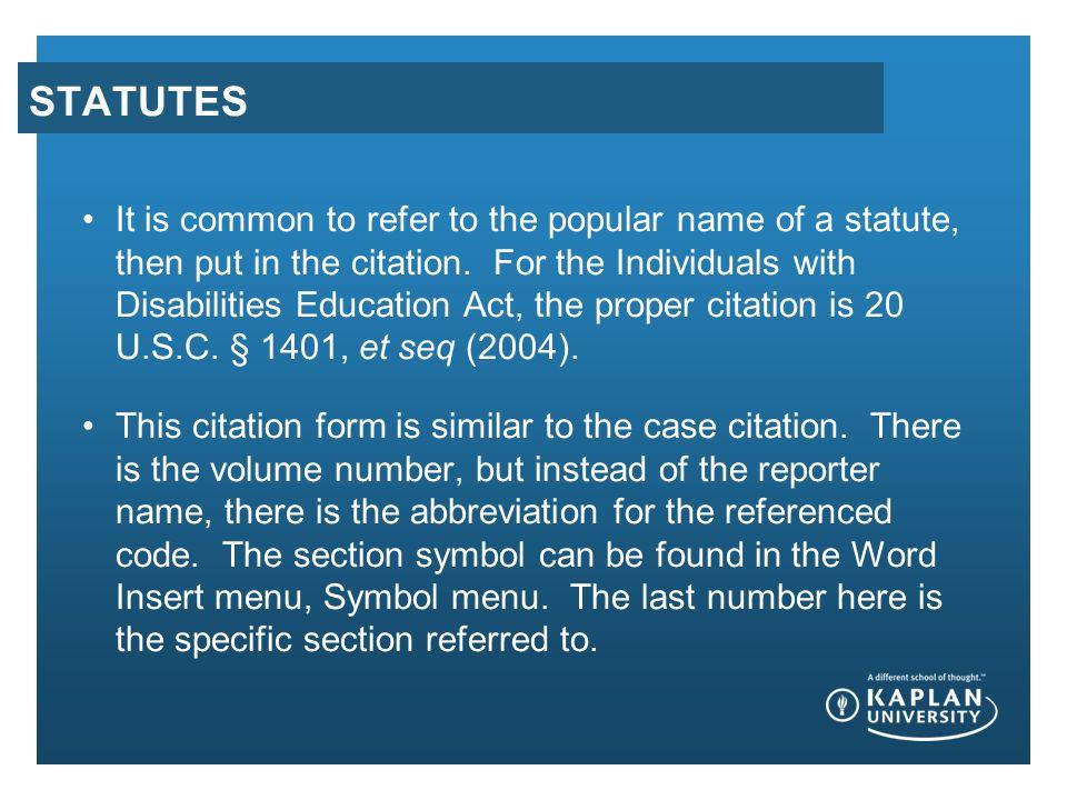 Uniform Citation For Legal Reference Pa 401 Unit 8 Presentation Ku