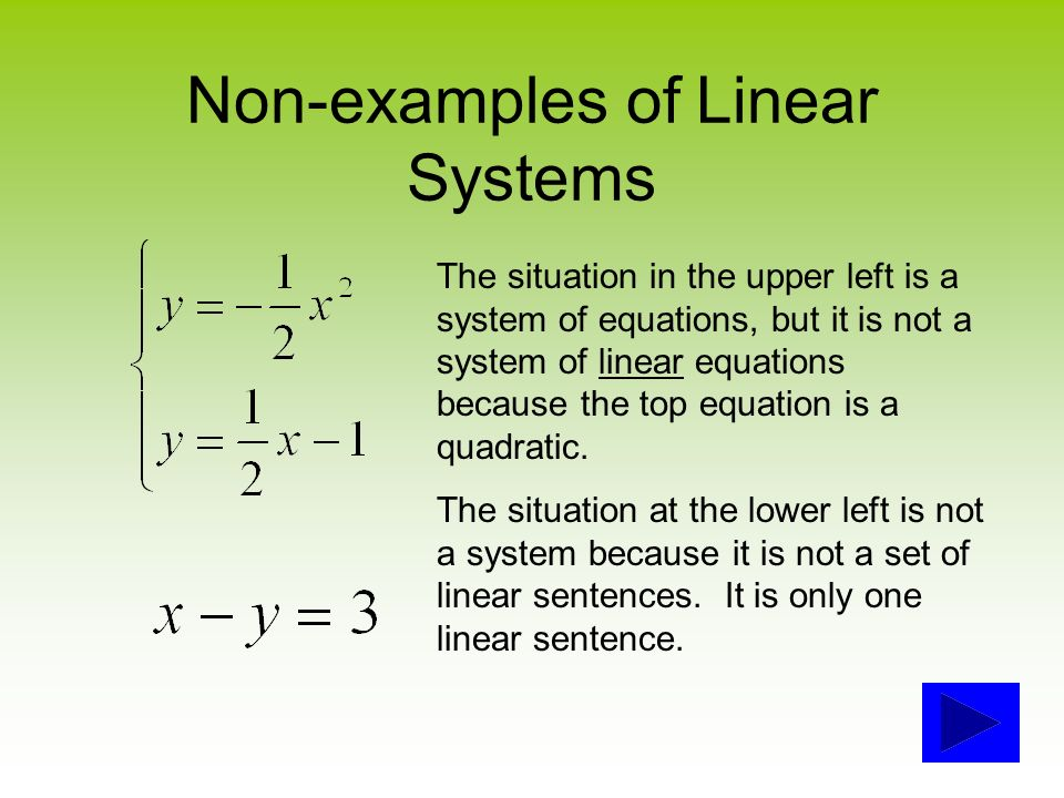 Solving systems of linear equations wait a minute! What's a system.