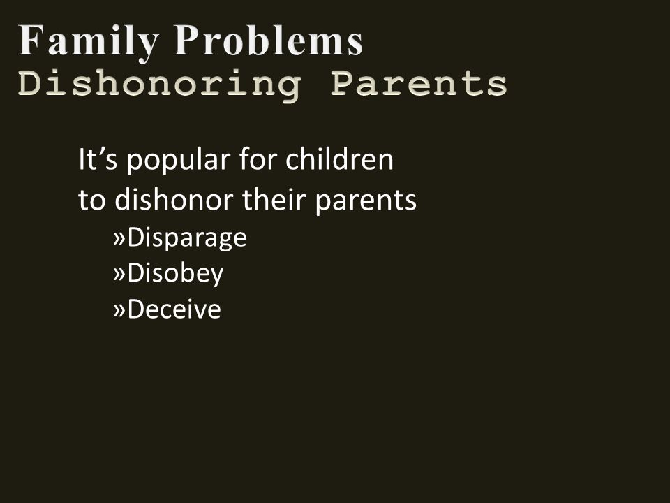 disobey parents