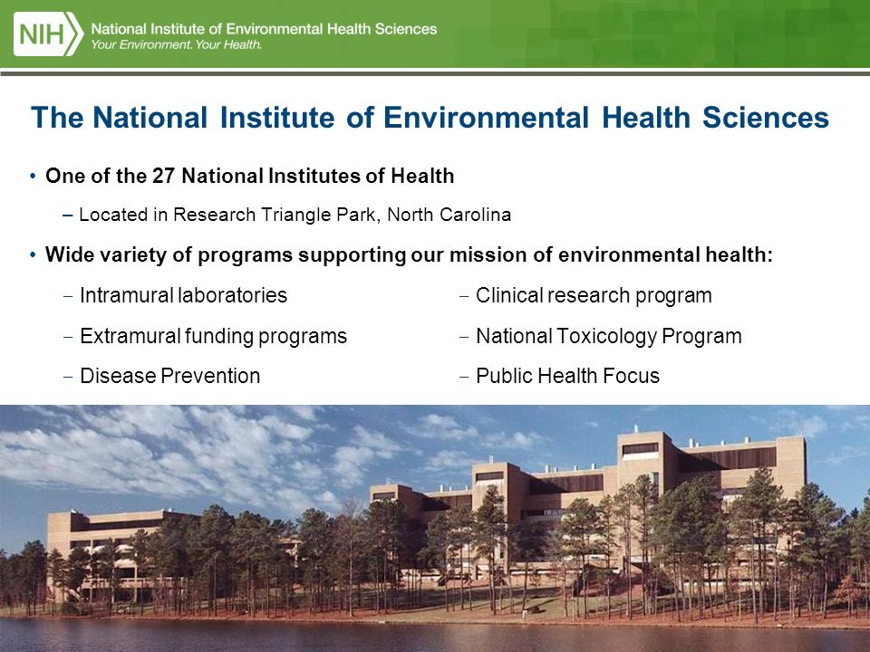 2 National Institutes Of Health US Department And Human Services The Institute Environmental Sciences One 27