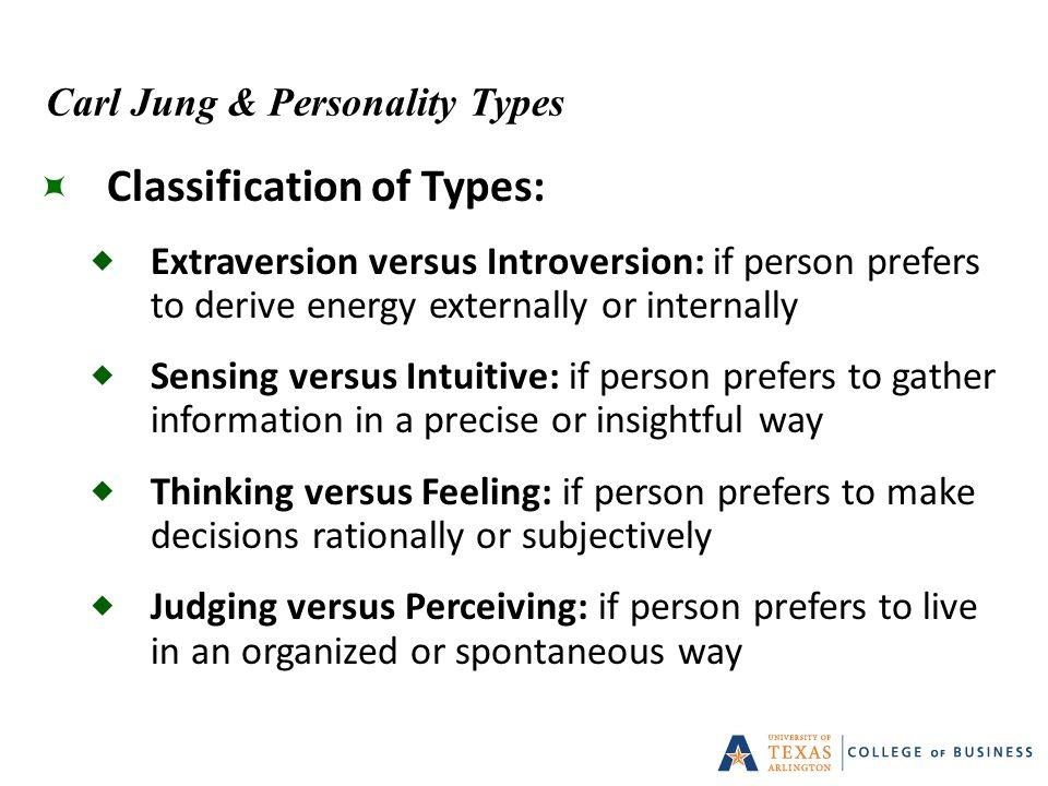 Personality test sensing versus intuitive