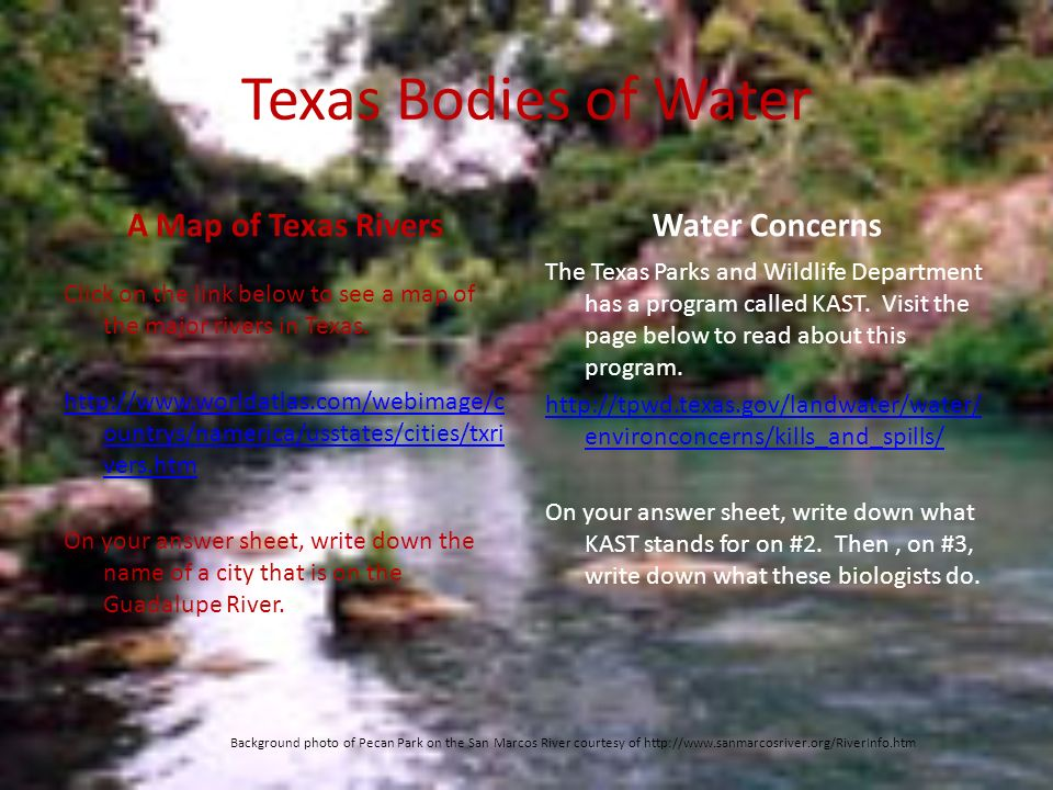 Water in Texas One of Our Most Precious and Important Resources