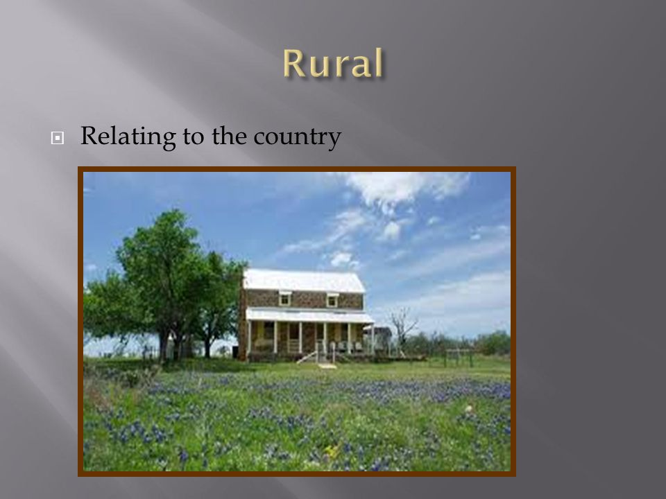  Relating to the country