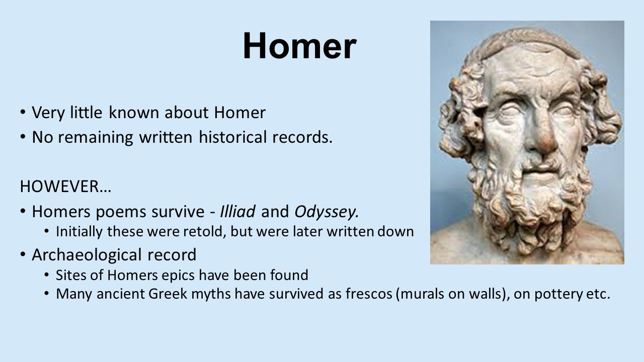 a summary of the odyssey an ancient greek epic poem by homer Homer's the odyssey is an ancient greek poem about a man who goes on an epic journey home after years in captivity this classic work most likely influenced the film a.