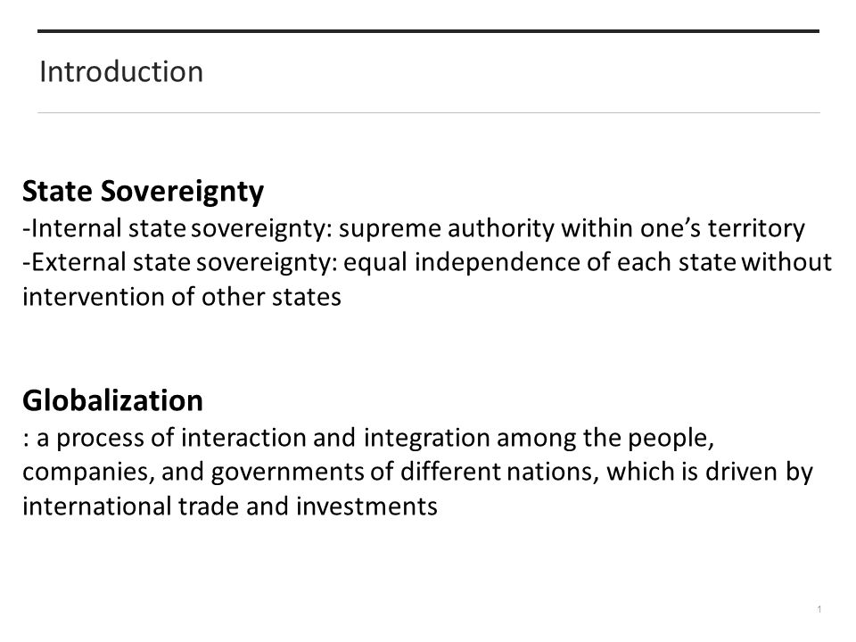 globalization state sovereignty