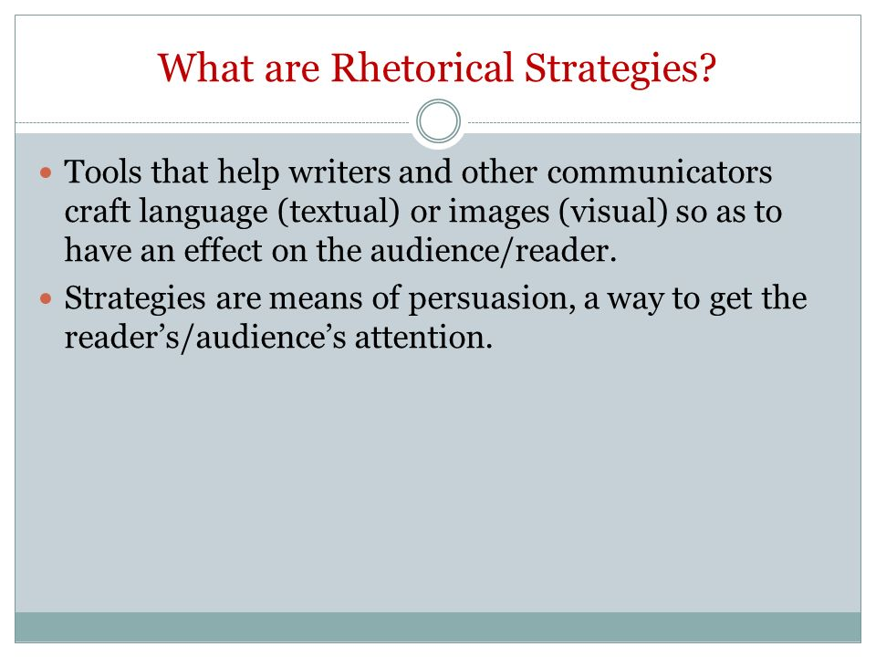what are rhetorical tools