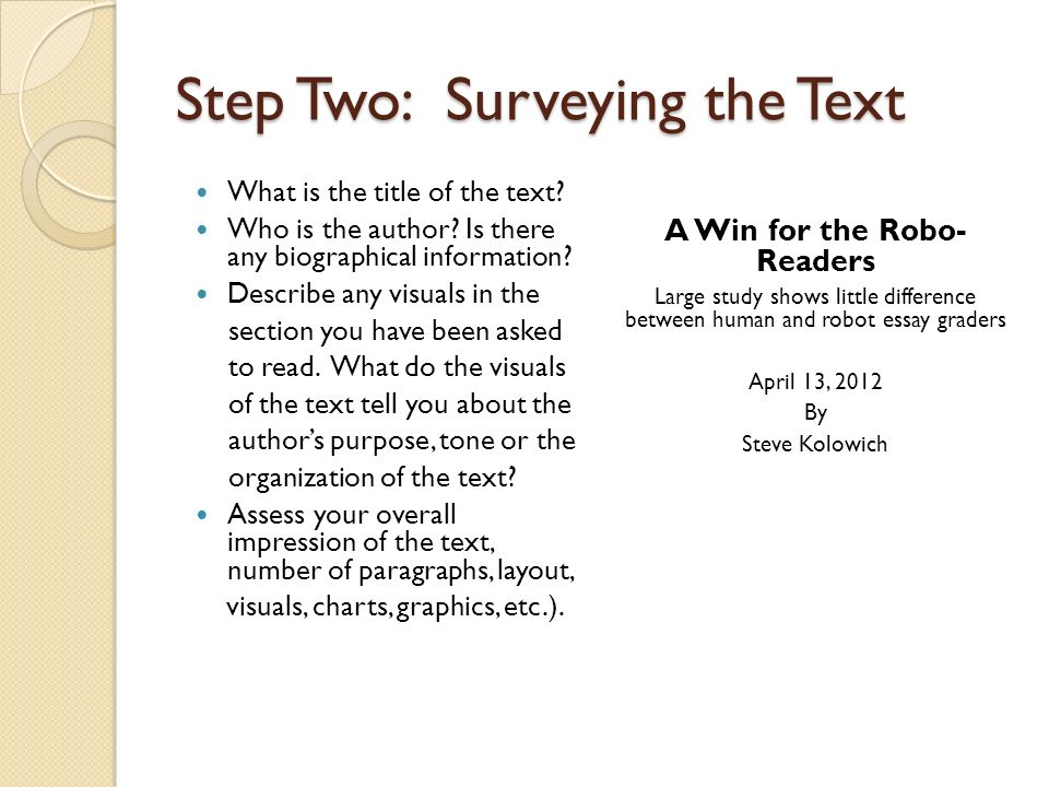 Close Reading Strategies 8 Steps Number paragraphs Survey the text