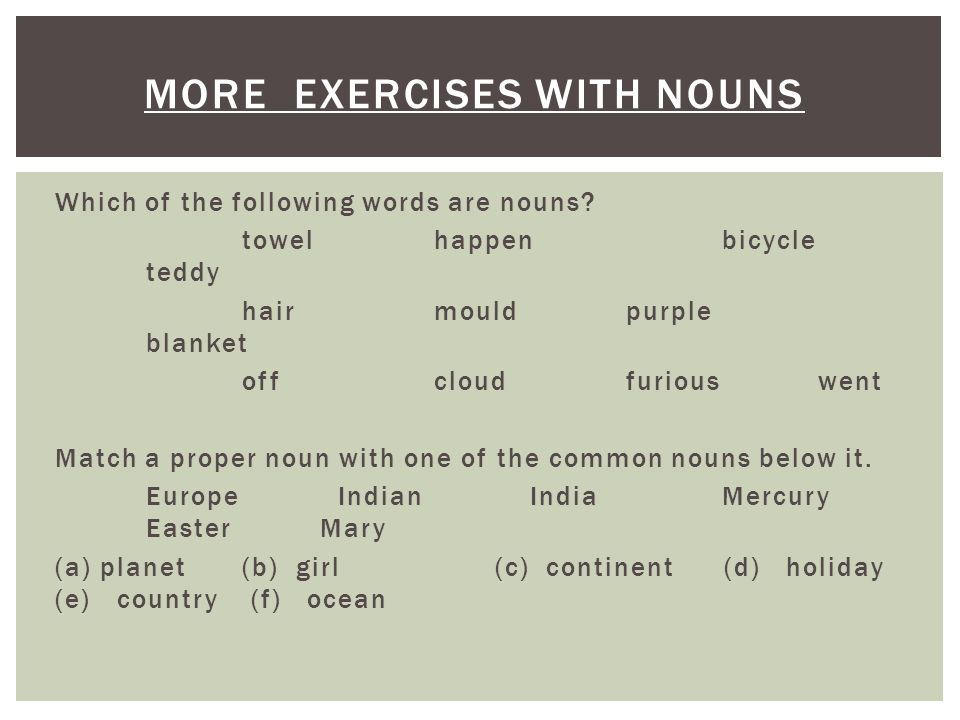 Grammar Basics NOUNS. Nouns are the names of people, places or things. A  common noun is the name of any usual thing like a table, a chair, a house,  an. - ppt