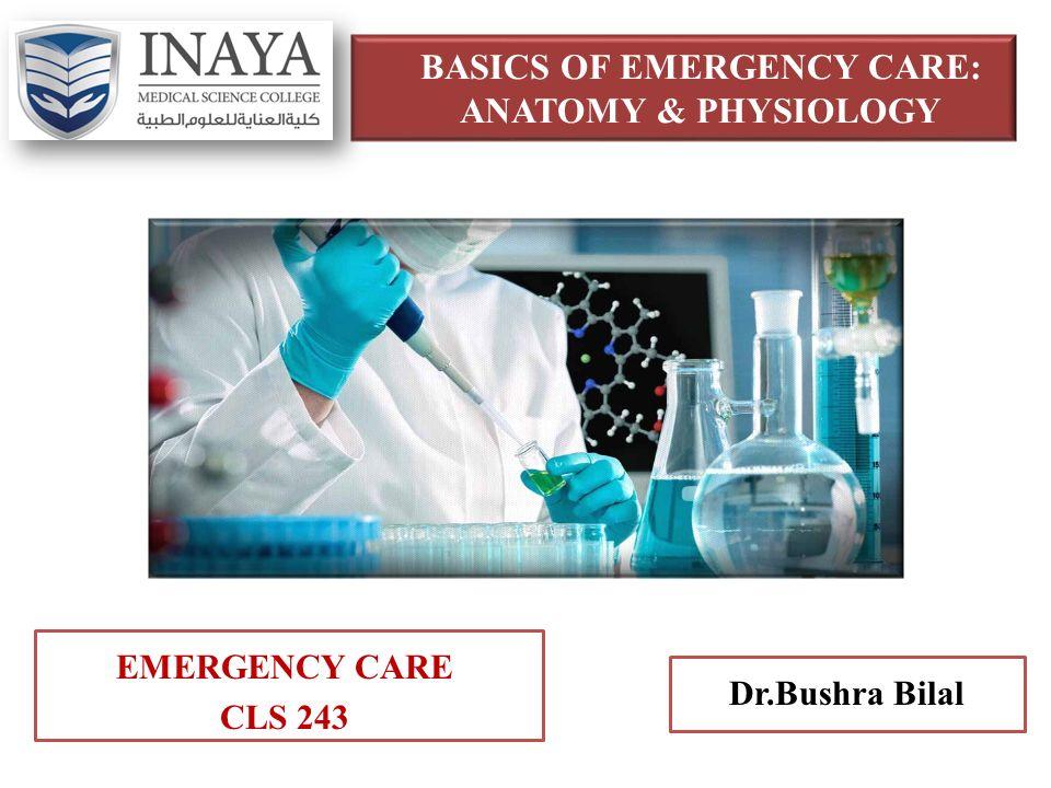 BASICS OF EMERGENCY CARE: ANATOMY & PHYSIOLOGY EMERGENCY CARE CLS ...
