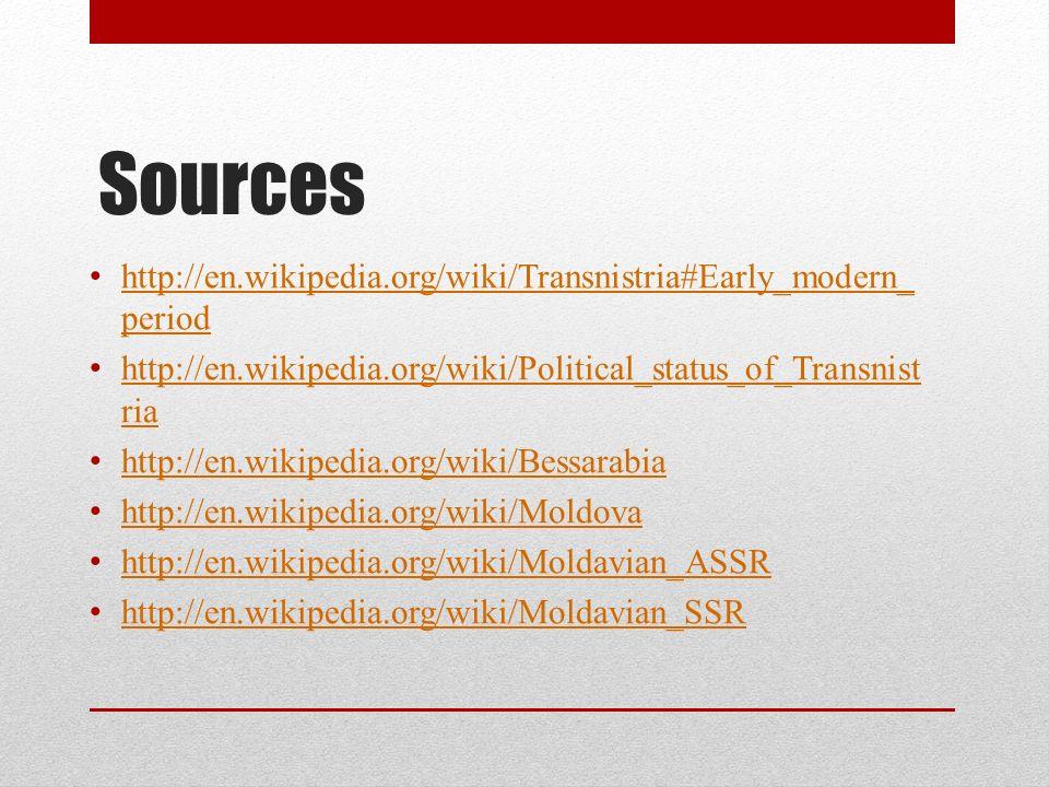 Transnistria, Moldova and Ethnicity  The Politics of