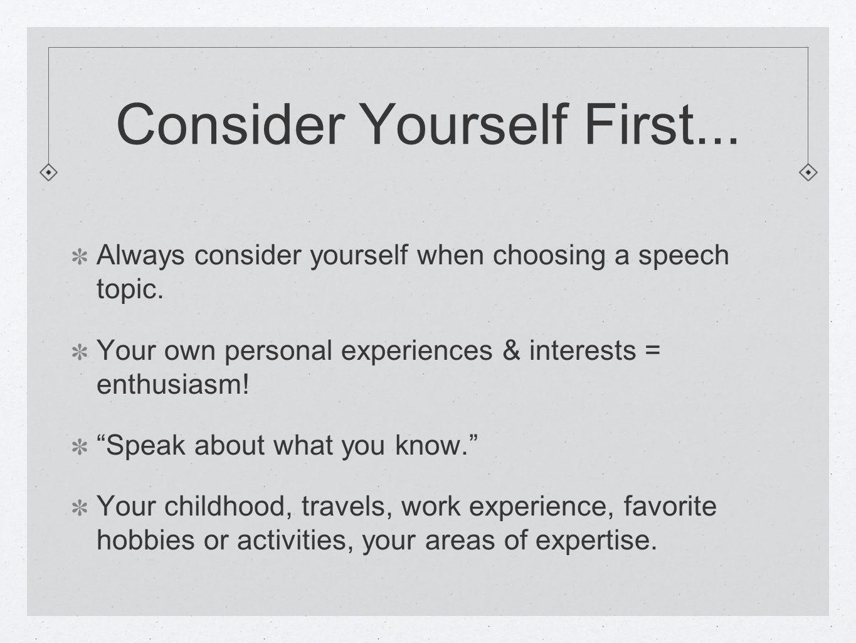 choosing a speech topic