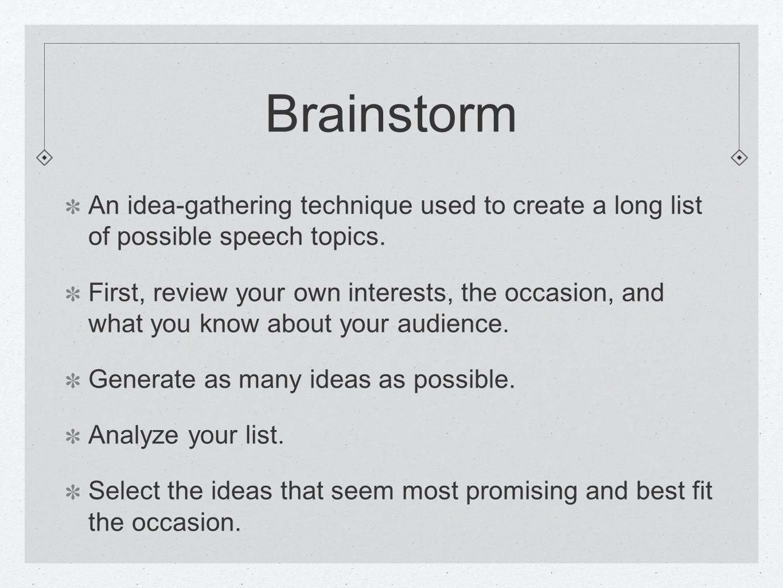 best speech topic ideas