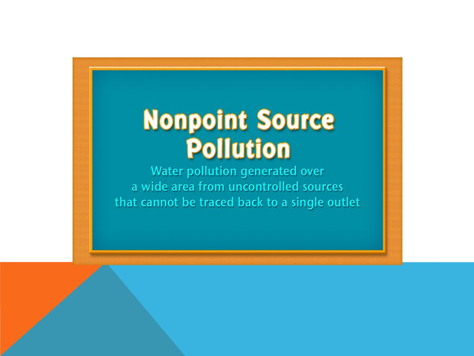 nonpoint source pollution examples