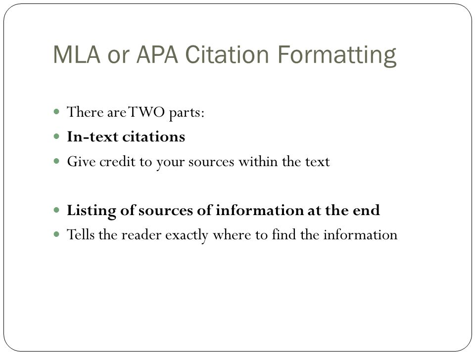 mla to apa format On your works cited page (mla) or reference list (apa), identify yourself as the author using the format for an unpublished paper (or published, if you have published it) cite any indirect sources indicating yourself as the author.