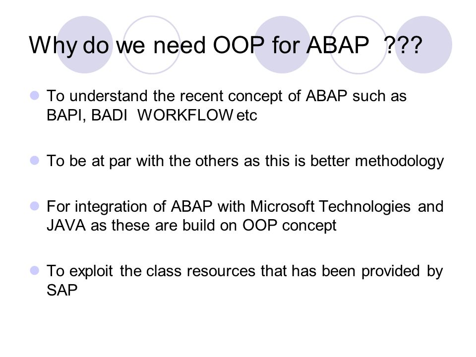 OBJECT ORIENTED PROGRAMMING IN ABAP  Overview New model for