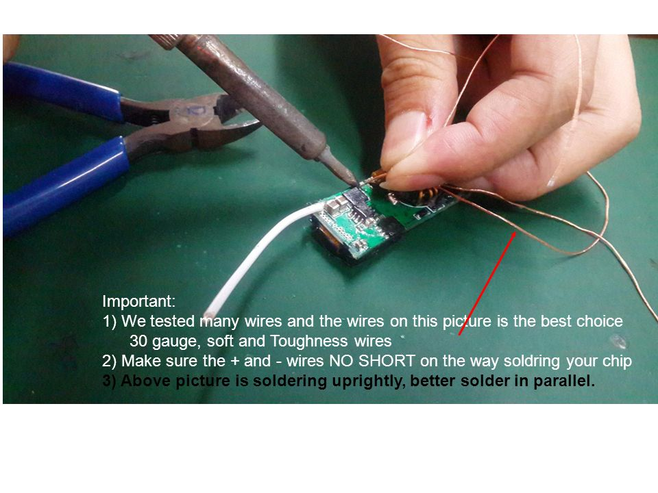 pls do not solder anything to this Pin solder 2 wires to this pinout ...