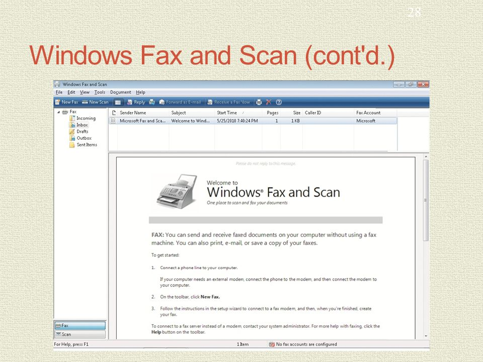 MCTS GUIDE TO MICROSOFT WINDOWS 7 Chapter 9 User Productivity Tools