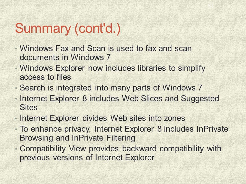 MCTS GUIDE TO MICROSOFT WINDOWS 7 Chapter 9 User