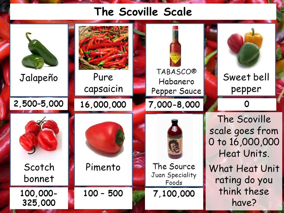 The Scoville Scale The Scoville Scale was developed by