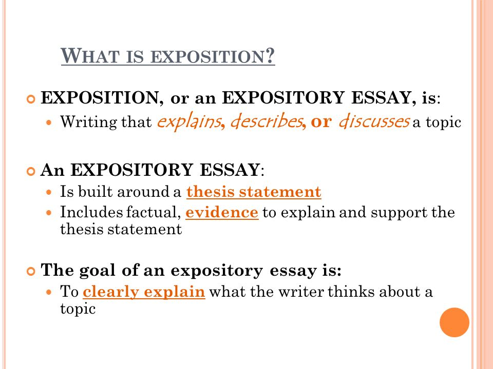 what is exposition writing
