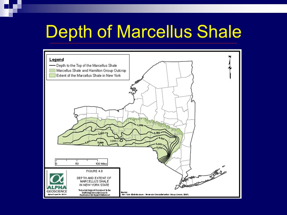 Radioactivity in Marcellus Shale High radiation concentrations Need