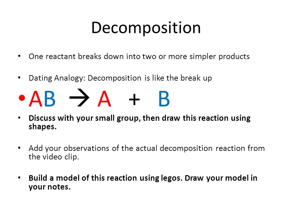 Types of Reactions  Synthesis Two or more simple reactants