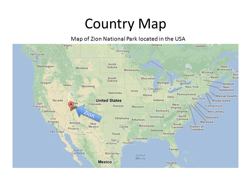 Zion National Park By: Jonathan. Relief Map Relief Map of Zion ...