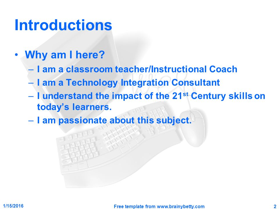 classroom applications for using technology with classroom, Technology In The Classroom Free Presentation Template, Presentation templates