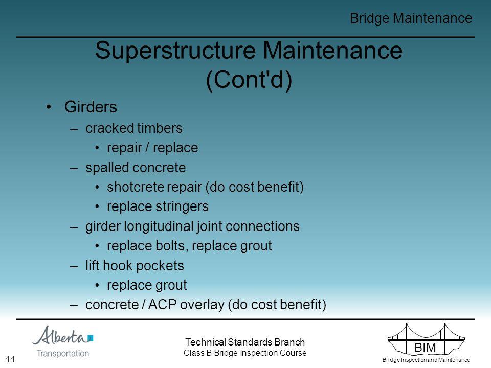 BIM Bridge Inspection and Maintenance Technical Standards